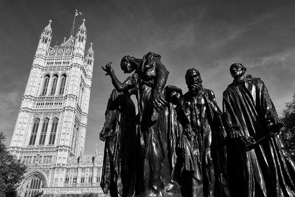 Les Bourgeois de Calais, Londres