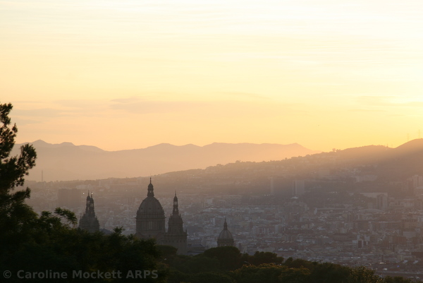 Sunset on Montjuic