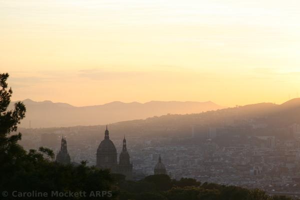 Sunset on Montjuic