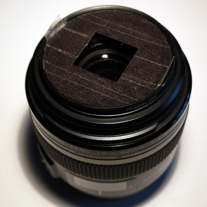 Main mask fits on the front of the 60mm lens