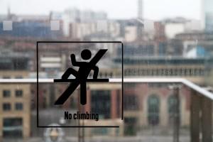 No Climbing - Spoilsports!