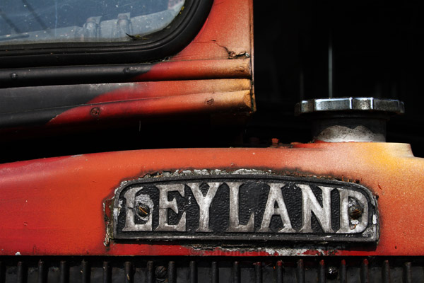 Leyland - a detail from the crusty old bus