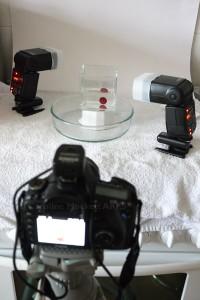 Dual off-camera wireless setup