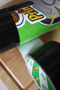 3. Wrap tube in Duck tape, leaving a 2-3mm overlap