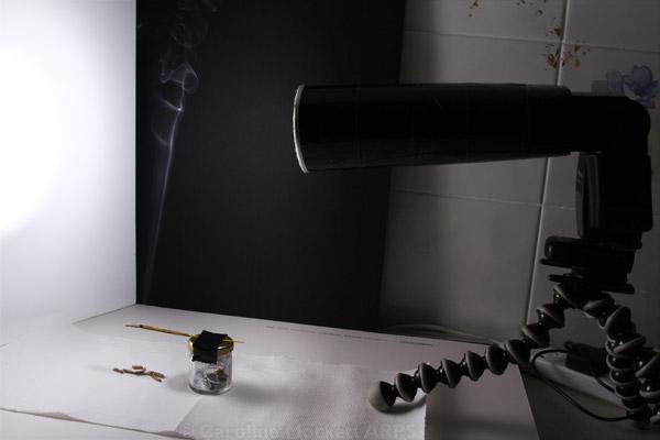 Reflector board angled at 110°