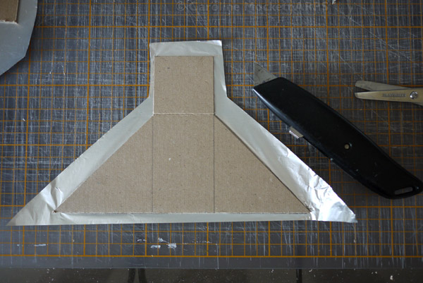 7. Trim off the excess foil flush with the sides of the card
