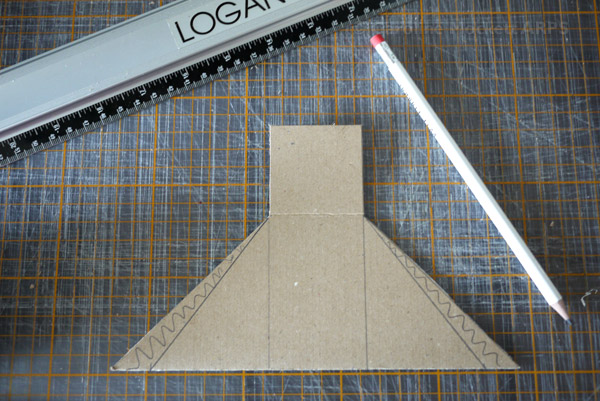 10. Trim off excess card to improve the box angle