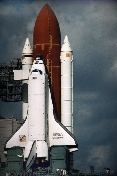STS-61 Endeavour on the launch pad