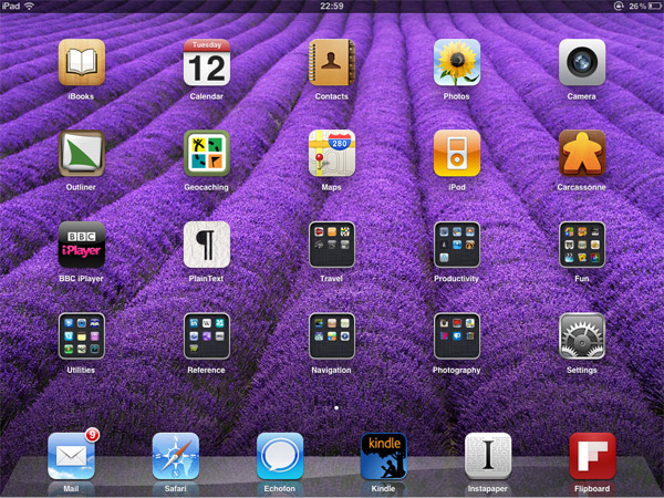 Home screen - Purple Riges