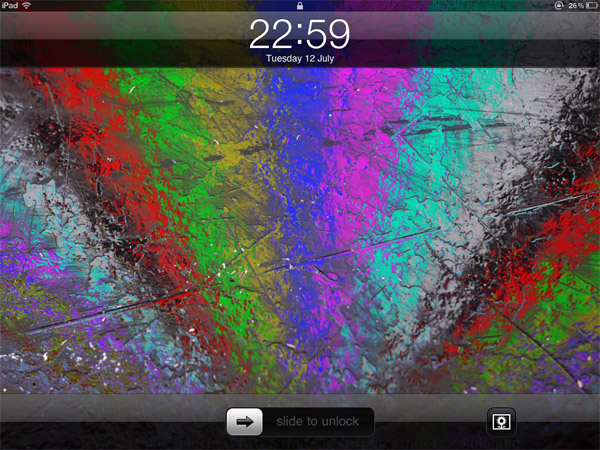Lock Screen - Scruffy Rainbow