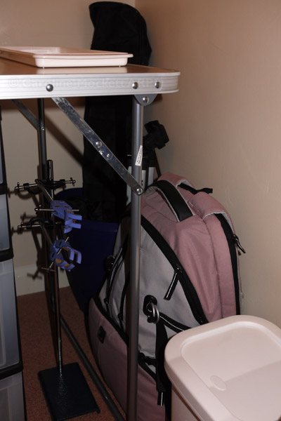 Baggage and tripods