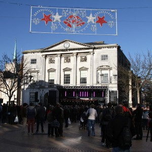 Shire Hall and stage