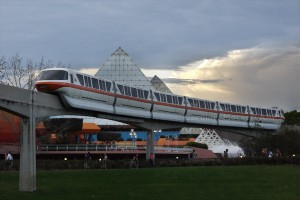The monorail at Epcot
