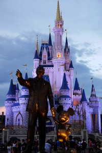Walt and Mickey wave goodbye