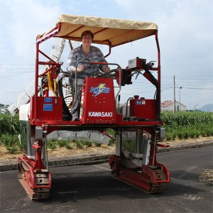 Driving A Tea Harvester