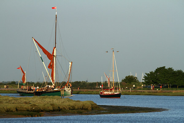 Sailing Barge Sailing By