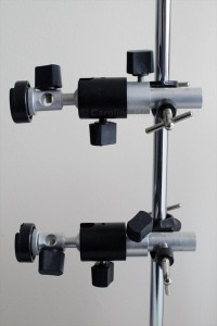 Two ball-head flash mounts