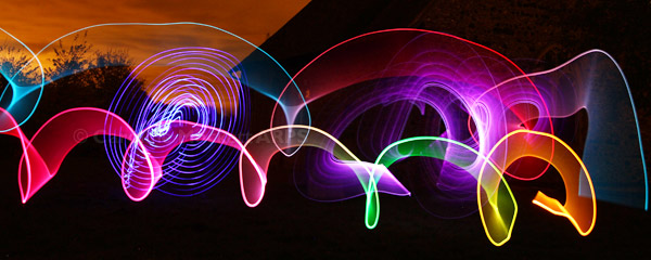 Light Swirls Panorama