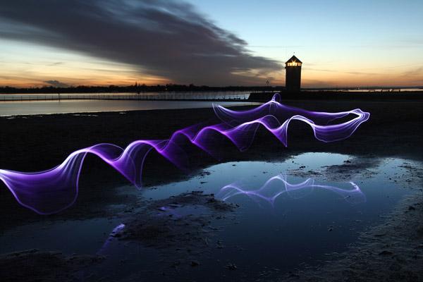 Wavy Line Purple