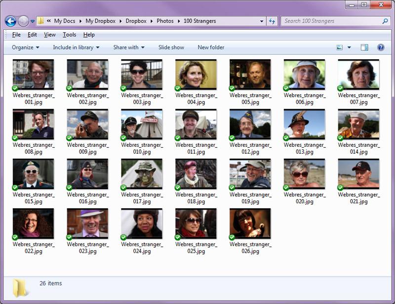 100 Strangers - Correct order from the PC folder