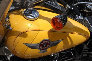 Yellow Harley Tank