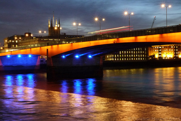 The Bus Goes Across London Bridge