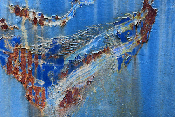 Rust Abstract In Blue