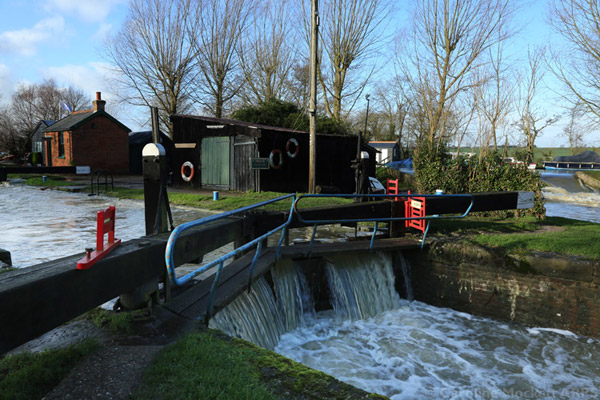 Floodwaters At The Lock