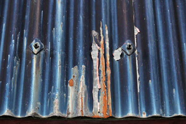 Blue Corrugations