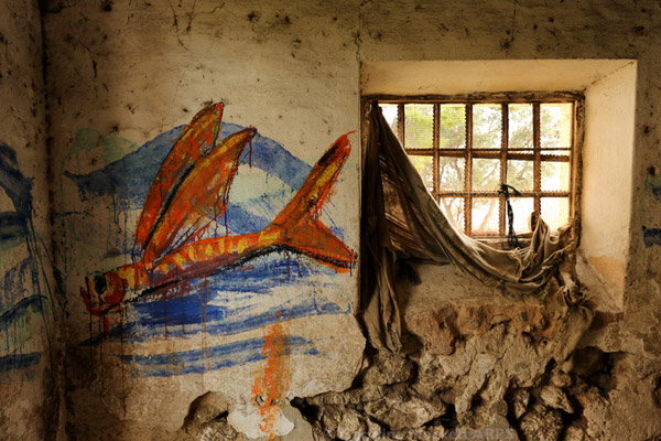 Mural And A Ruined Window