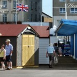 Little Huts And Flag