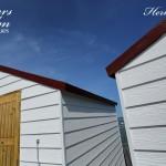 Freshly Painted Huts