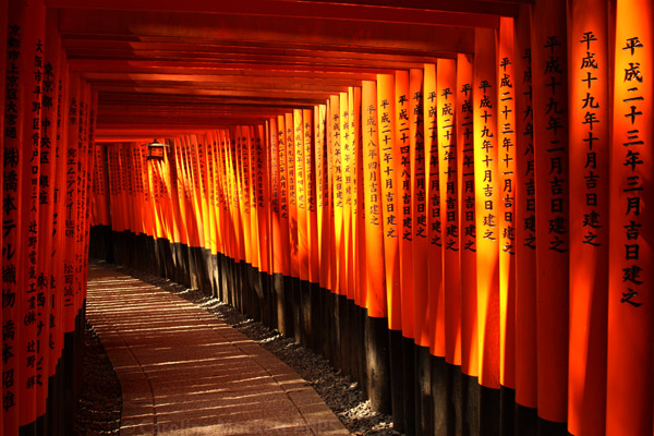 Torii Tunnel, Fushimi Inari-Taisha Shrine, Kyoto